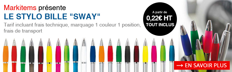 Stylo bille publicitaire Sway